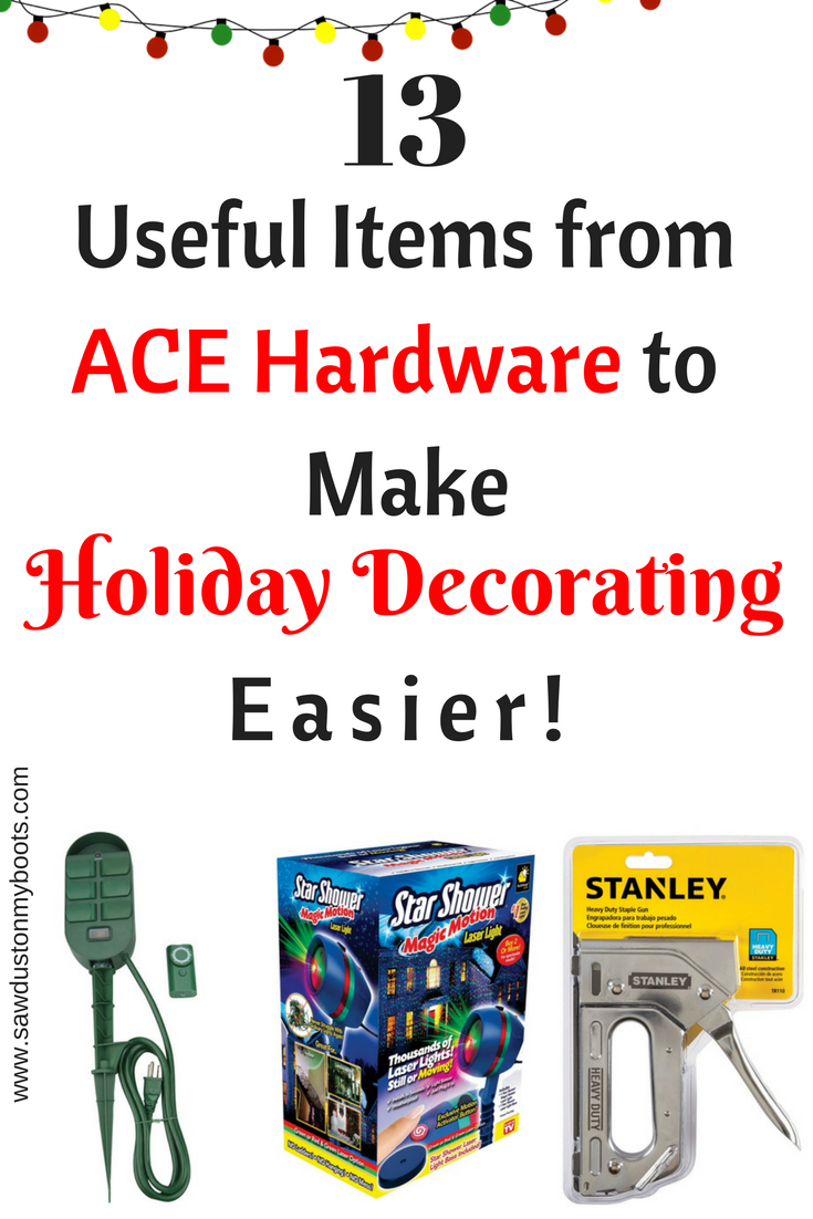 13 Amazing Ace Hardware Items to make Decorating Easier!