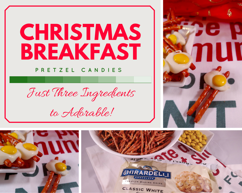 Christmas Breakfast Pretzel Candies: 3 Ingredients to Adorable!