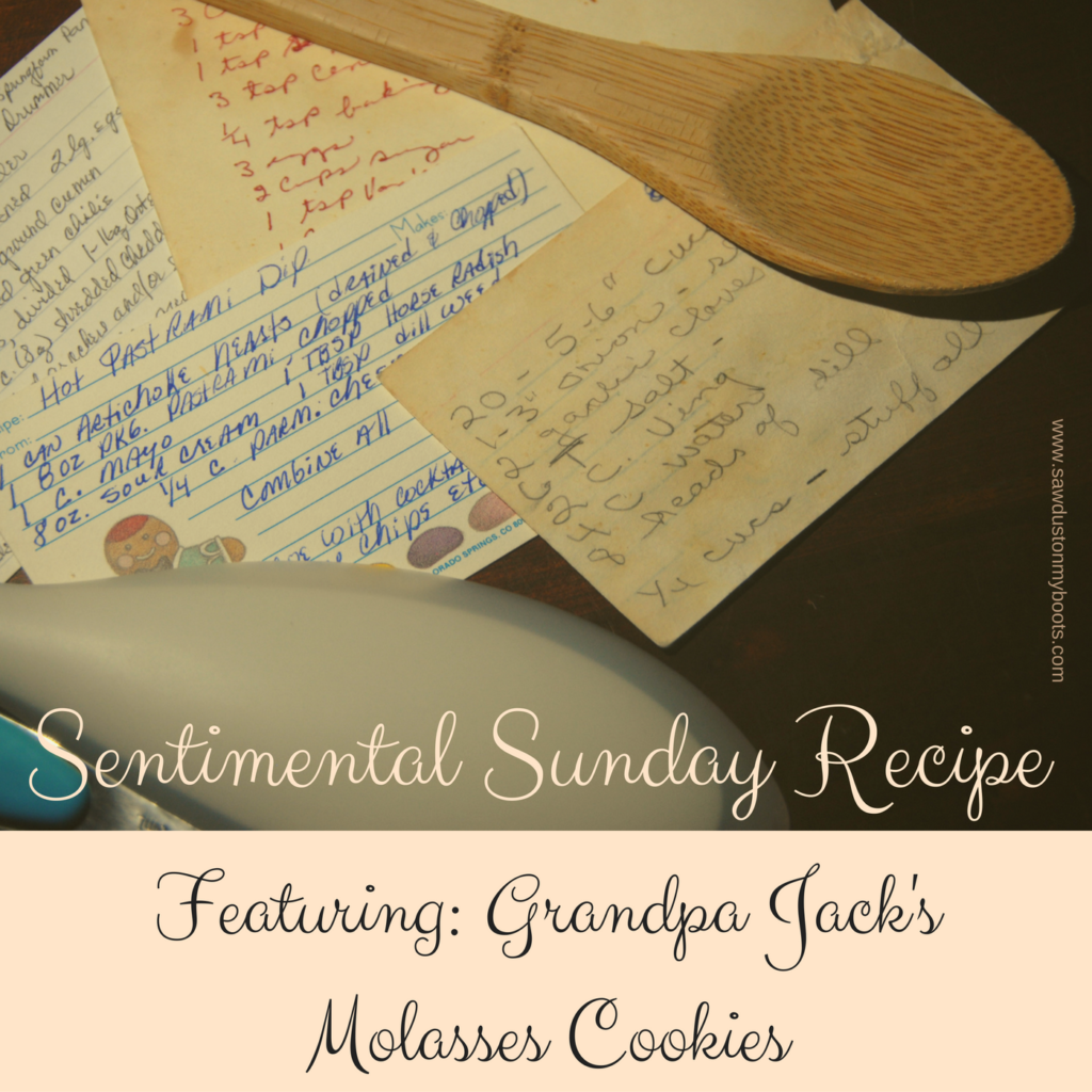 Sentimental Sunday Old Fashioned Molasses Cookie