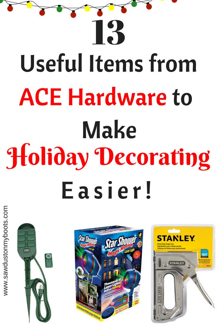 13 Amazing Ace Hardware Items to make Decorating Easier!